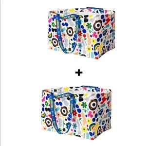 IKEA FÖRNYAD Limited Edition Carrier Bag- Set of 2